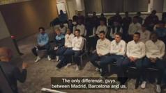 Así explica Guardiola a sus jugadores la diferencia entre el Madrid, el Barça y el City