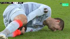 La rodilla de Morata hizo saltar las alarmas y fue cambiado al descanso