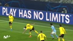 Gol de Mahrez, p. (1-1) en el Borussia Dortmund 1-2 Manchester City