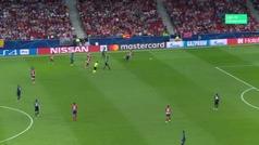 Gol de Koke (3-1) en el Atlético 3-1 Brujas