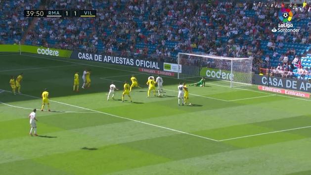 Gol de Vallejo (2-1) en el Real Madrid 3-2 Villarreal