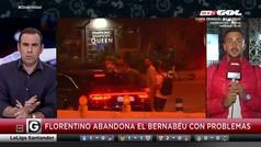 Gol pilla el momento de la pequeña colisión del coche de Florentino Pérez al salir del Bernabéu