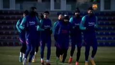 El Barça prepara la final de la Supercopa sin Messi
