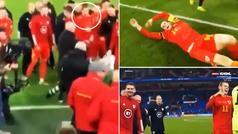 Lo que no se vio de la polémica celebración de Bale con Gales