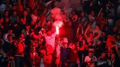 Aficionados de River Plate inundad Madrid con cánticos y festejos