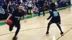 Millones flipan con el profesor abusón que machaca a sus alumnos jugando a baloncesto