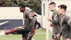 El Atlético comienza a preparar el encuentro ante el Huesca