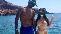 Paul George hace esnórquel con Daniela Rajic en Santorini