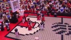 Recrean el canastón ganador de Kawhi Leonard ante los Sixers en versión lego