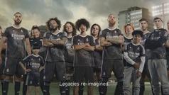 Así es la nueva camiseta del Real Madrid: un 'dragón óptico' pintado a mano