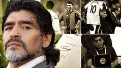 Los tesoros ocultos de Maradona: una camiseta dedicada de Stoichkov, balones, una carta de Fidel...