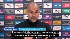 """Guardiola: """"No sé qué pasará con Eric, quizás pueda salir"""""""