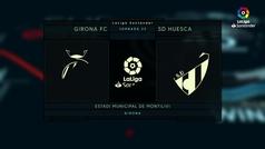 LaLiga (J23): Resumen y goles del Girona 0-2 Huesca