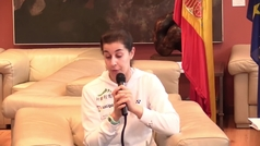 """Carolina Marín: """"Al principio pasé más nervios que miedo porque era un poco novata en pasar por el quirófano"""""""