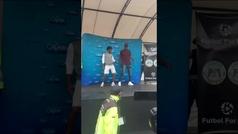 El baile de Cuadrado y Yerry Mina