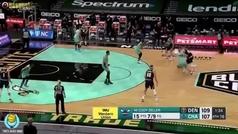 Clutch Campazzo: triple decisivo para tumbar a los Hornets