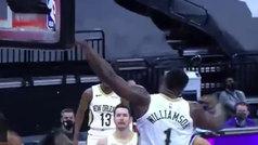 Zion Williamson se come el aro rival y lo deja temblando