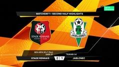 Europa League (J1): Resumen y goles del Rennes 2-1 Jablonek