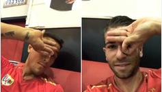 La plantilla del Rayo se 'obsesiona' intentando hacer el gesto de Dele Alli: ¡Ojo al intento del utillero!