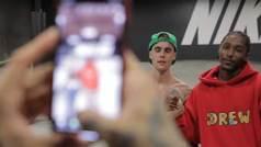 El vídeo del 'patinazo' de Justin Bieber con Nyjah Huston antes de su boda