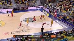 Euroliga. Resumen: Gran Canaria 90-67 Olympiacos
