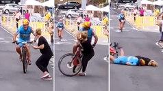 Terrible accidente en una prueba ciclista en El Hierro por la imprudencia de una aficionada