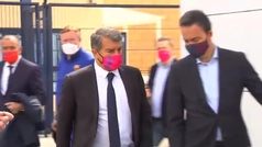 El Barça ya está en Sevilla con Laporta a la cabeza de la expedición