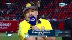 """Diego Maradona: """"Al fútbol mexicano lo veo en crecimiento"""""""