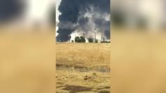 El complejo de Repsol Puertollano, ¡incendiado por un rayo!