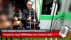 """Gaspart: """"He cogido el metro y tampoco es tan trágico"""""""