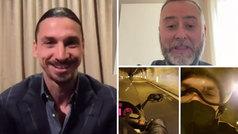 Ibrahimovic promete dedicarle un gol al motorista que le llevó al Festival de San Remo
