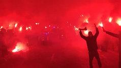 Espectacular recibimiento al Leganés en Butarque para el derbi