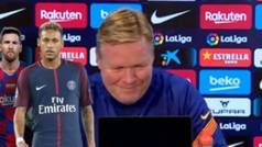 Las preguntas sobre Neymar que sacaron una sonrisa a Koeman