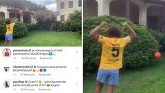 Puyol se deja querer por Barça de basket con este triplazo... ¡y le convocan para entrenar!