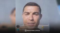 Cristiano Ronaldo anima a su amigo Khabib Nurmagomedov para su pelea ante Gaethje