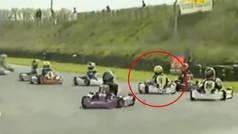 La increíble remontada de Hamilton cuando era niño en el karting