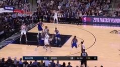 Por esto le llaman el nuevo Tony Parker: apabullante 36+5+5 de Derrick White para graduarse con los Spurs