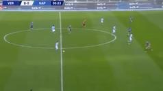 Gol del 'Chucky' Lozano a los 9 segundos del Verona-Nápoles