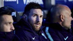 Messi se reservó en el banquillo hasta el minuto 60