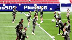 El Atlético prepara en el Metropolitano el partido ante el Eibar