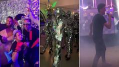 Así fue la 'loca' fiesta de disfraces de Koke: show de Rodri con el micro, los curiosos 'hombres de plata'...