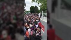 Nadal colapsa los pasillos de Roland Garros