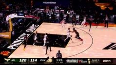 Antetokounmpo tumba a los Suns y se queda a un paso de su primer anillo de campeón de la NBA