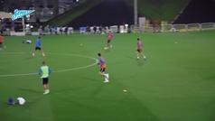 Malcom culmina el 'tiki-taka' en el entreno del Zenit