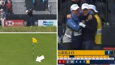 Increíble hoyo en uno de Emiliano Grillo en el British Open