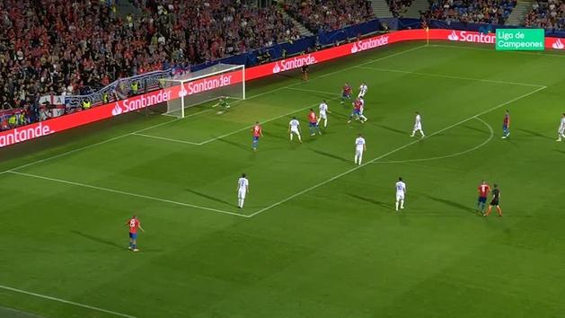 Gol de Krmencik (2-0) en el Viktoria Plzen 2-2 CSKA Moscú