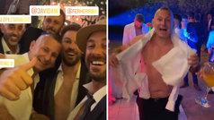Pepe Reina va una boda, se encuentra a Javi Moreno... ¡y no corta grabándole a pecho descubierto!