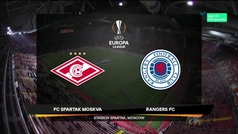Europa League (J4): Resumen y goles del Spartak 4-3 Rangers