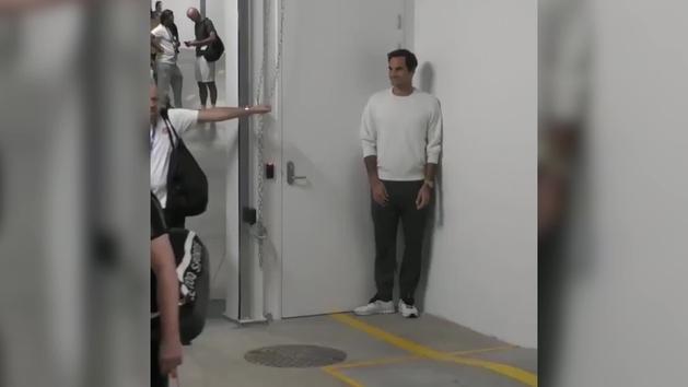 El Federer más bromista