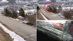 Escalofriante es poco: brutal accidente del campeón del mundo de rallies en Montecarlo